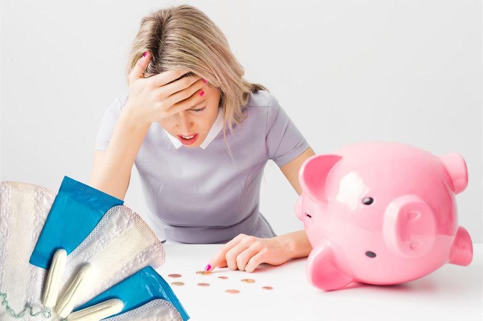 Frauen geben jährlich eine immense Summe wegen ihrer Periode aus.