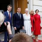 Prinz Frederik, Emmanuel Macron, Königin Margrethe, Brigitte Macron, Prinzessin Mary