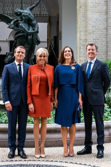 29. August 2018  Am zweiten Tag des Staatsbesuches der Macrons besuchen die beiden Paare ein Museum in Kopenhagen.