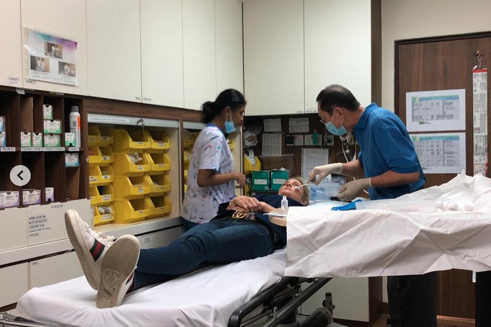 Storm Keating im Krankenhaus