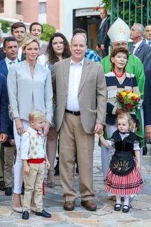 31. August 2018  Die monegassische Fürstenfamiliebeim alljährlichen Picknick im Princess Antoinette Park in Monaco.