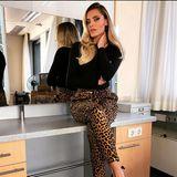 Raubtierfütterung? Dafür hat sich Sophiaim sexy Leo-Print-Lookgenau das richtige Outfit für ihren Besuch beim NDR in Hamburg ausgesucht.