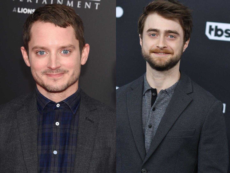 Erkennen Sie die Ähnlichkeit? Daniel Redcliffes Doppelgänger ist niemand Geringeres als Elijah Wood. Wenn man genau hinschaut, könnten die beiden Schauspieler wirklich Brüder sein.