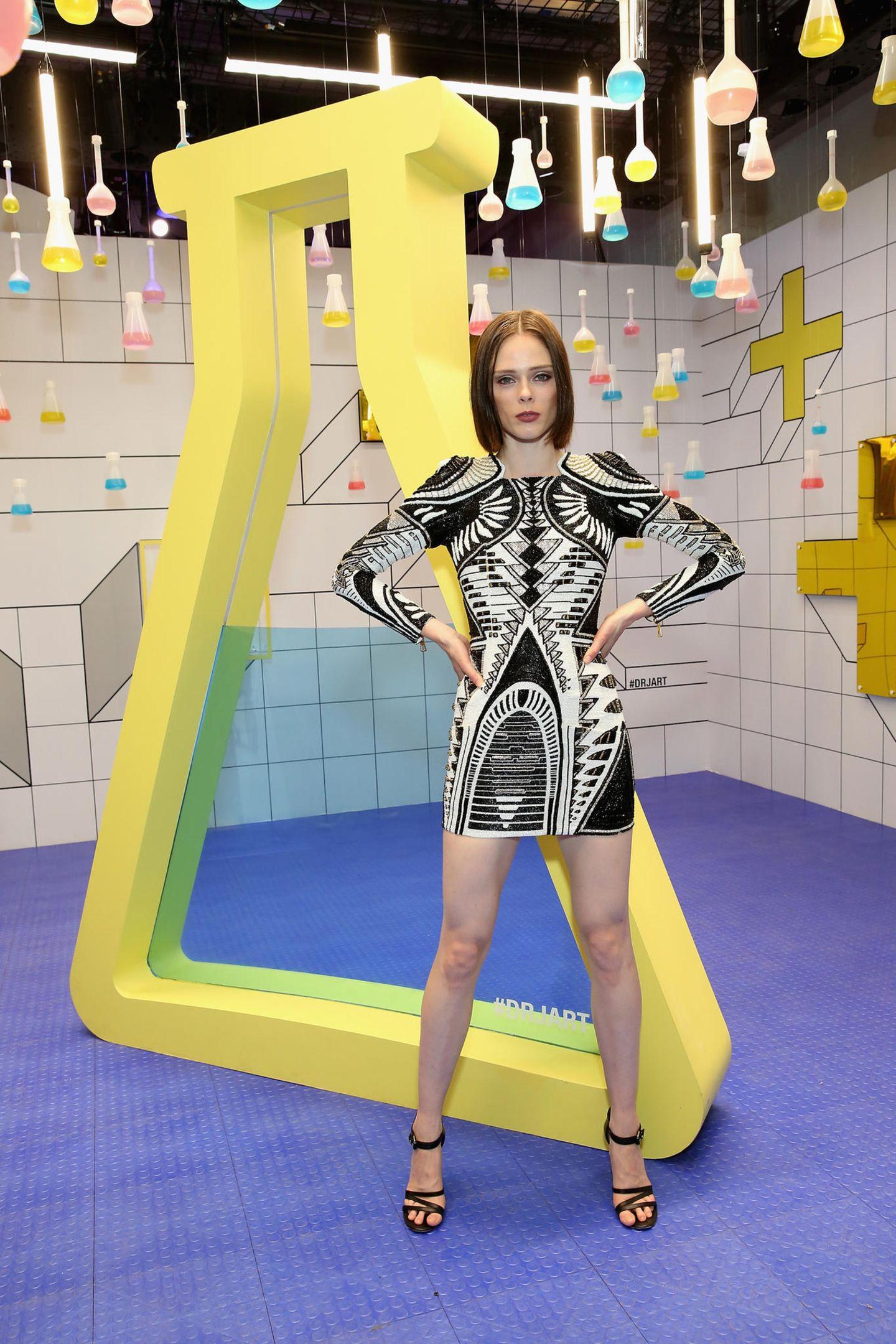 Ebenfalls auf der Eröffnungsparty: Model Coco Rocha.
