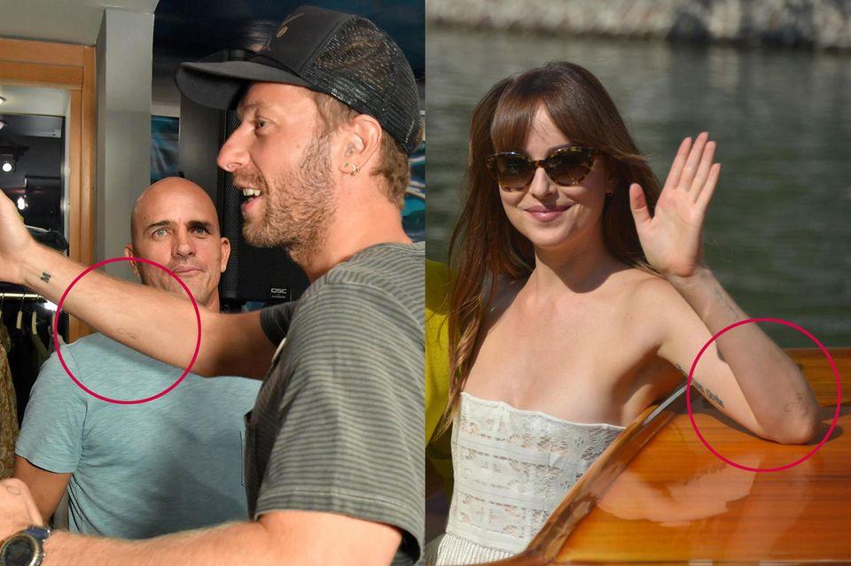 Chris Martin und Dakota Johnson – ihre Liebe geht unter die Haut.