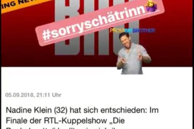 Nadine Klein kann sich einen Seitenhieb auf Chethrin Schulze nicht verkneifen
