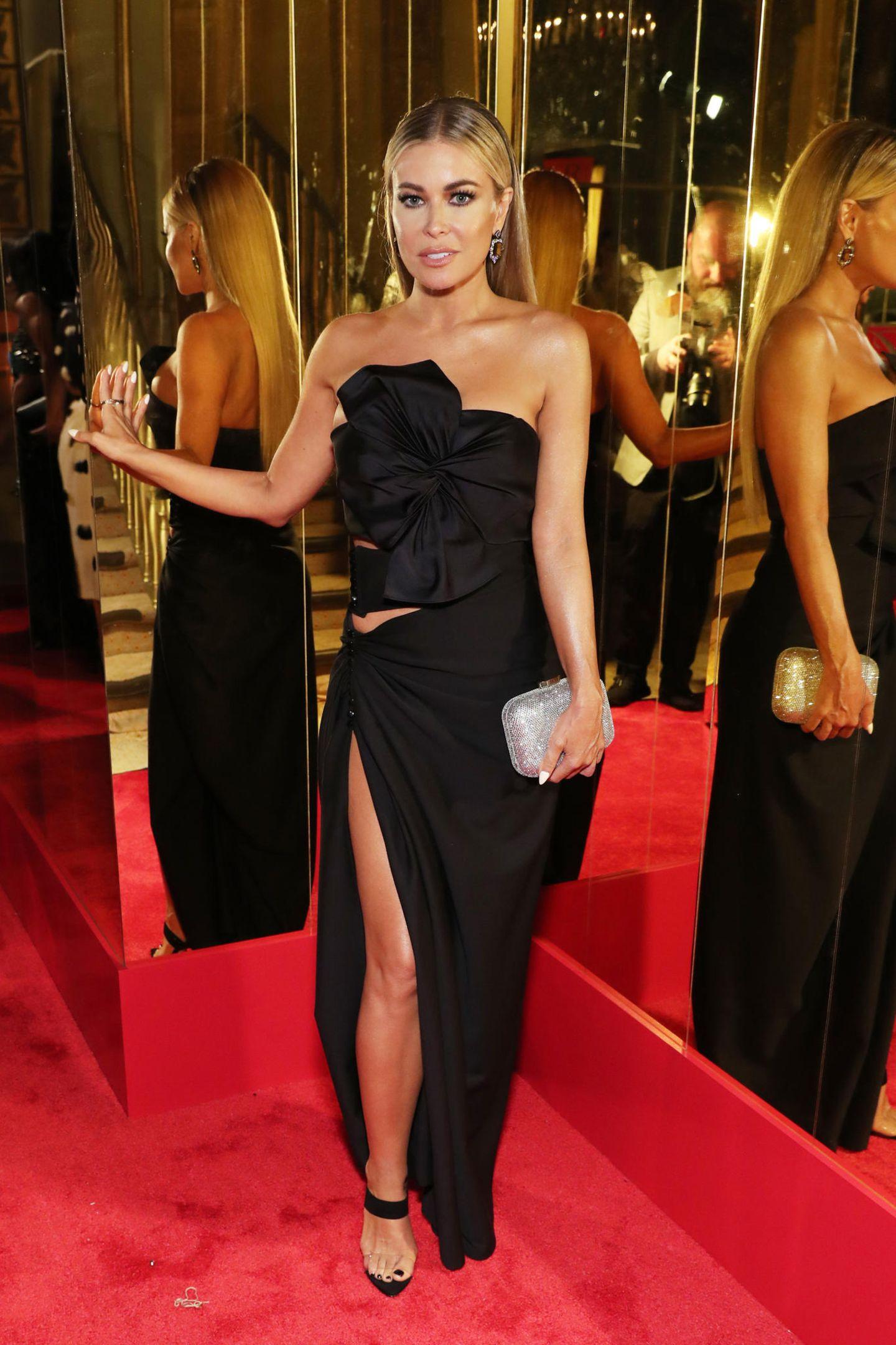 Für die Fashion-Party hat sich auch Carmen Electra hübsch verpackt.