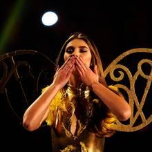 Stefanie Giesinger wählt in dem Finale von GNTM bereits in 2014 einen Look à la Victoria's Secret. Einmal in der weltberühmten Dessous-Show mitlaufen - das ist ihr großer Wunsch.