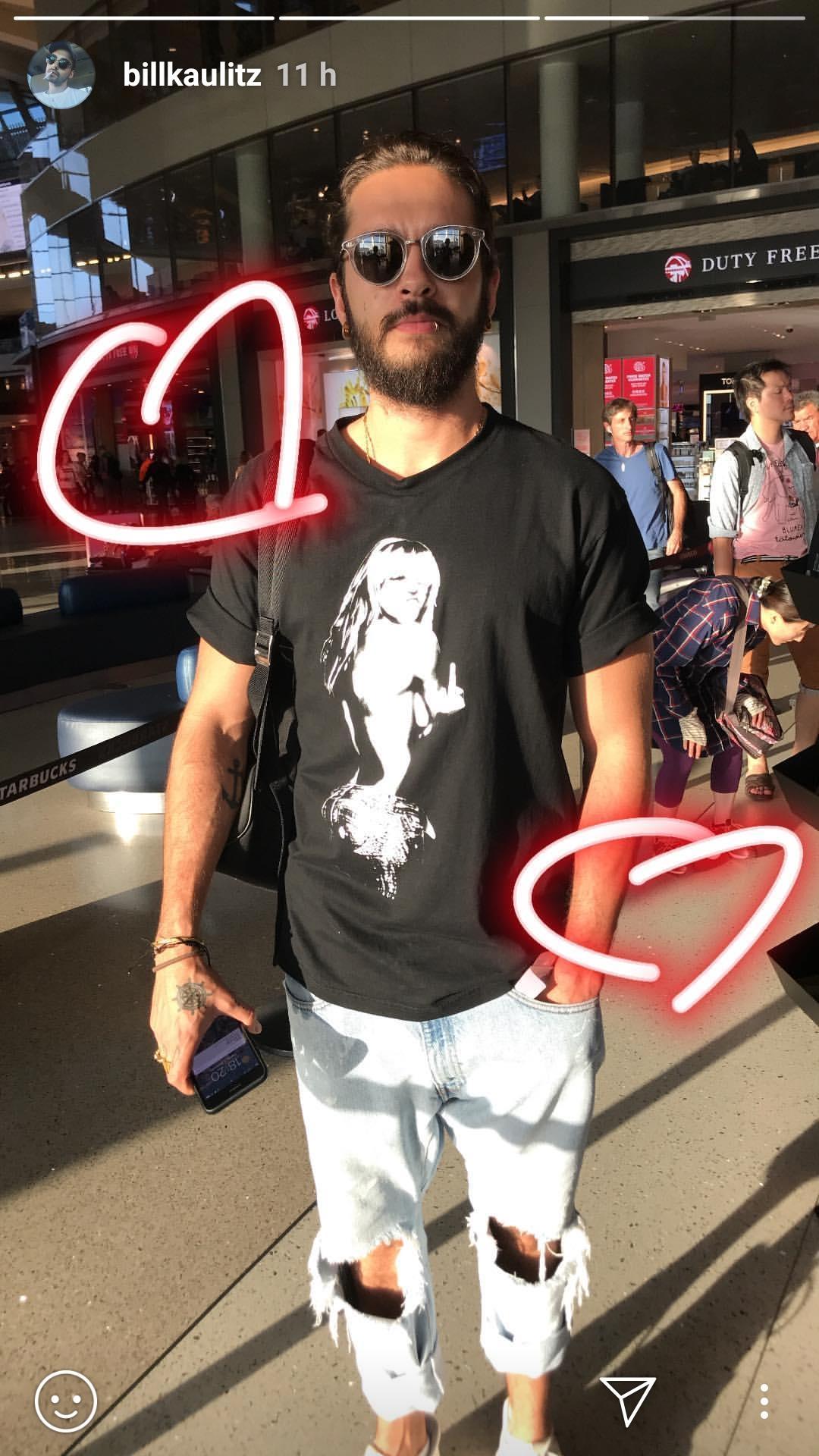 Tom Kaulitz mit Heidi-Shirt