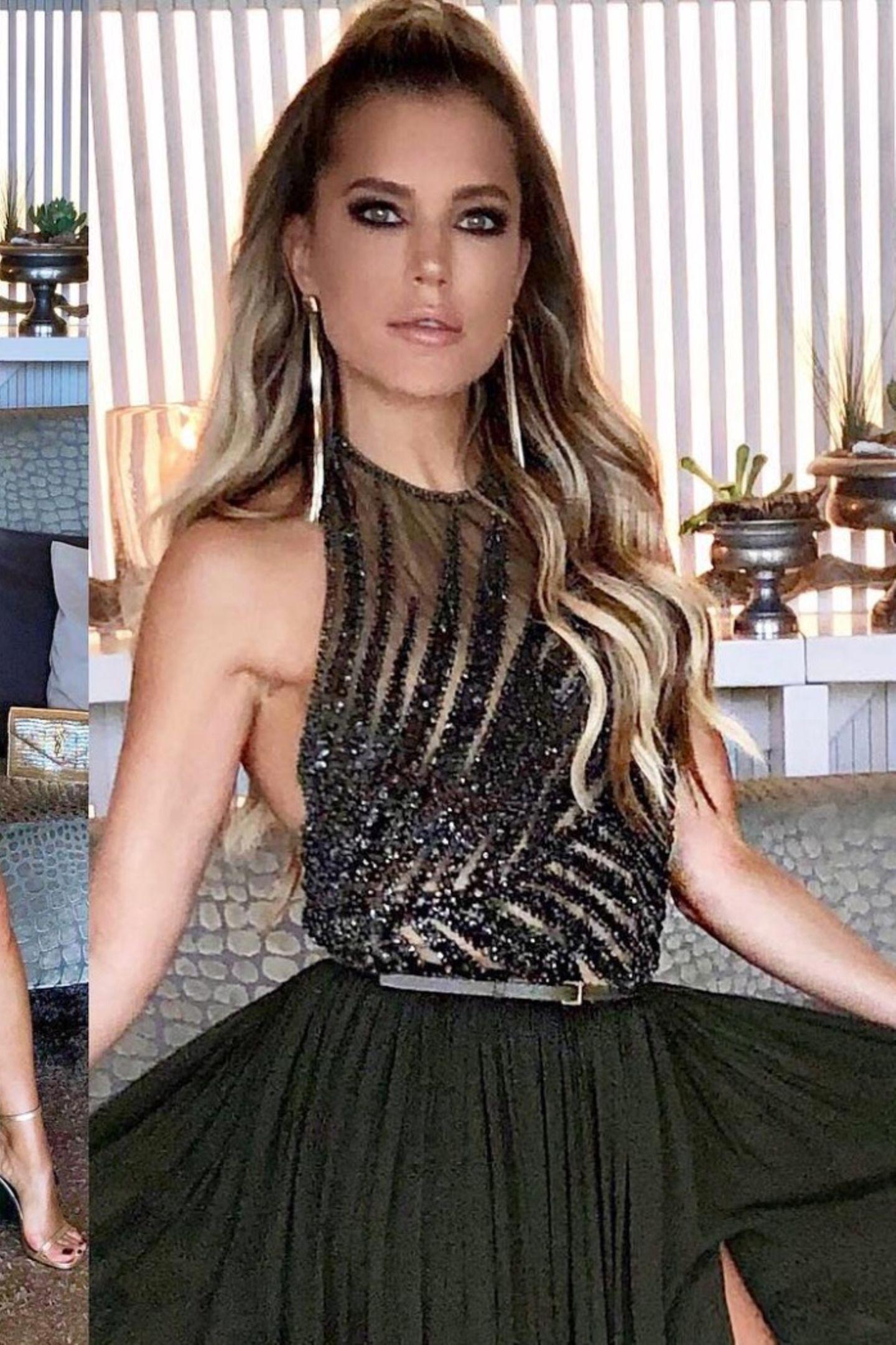 In einer Couture-Robe direkt vom Runway von Elie Saab verzaubert Sylvie nur wenig später. Besonders das Oberteil mit den Pailletten-Verzierungen macht ordentlich was her.