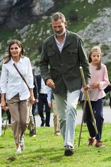 8. September 2018  Für die Hundertjahrfeier des Covadonga-Nationalpark erklimmen König Felipe, Letiziaund ihre Prinzessinnen die Berge höchstpersönlich.