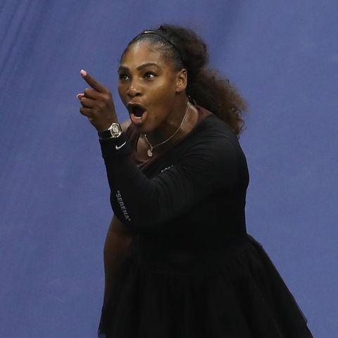 Serena Williams und SchiedsrichterCarlos Ramos
