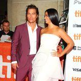 """Wie immer ein stylisches Pärchen: Matthew McConaughey und seine Camila (in Romona Keveža) bei der Premiere von """"White Boy Rick"""""""
