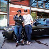 Manuel Cortez und Bruno Eyron sind mit dem exklusiven BMW-Shuttle, der eleganten 7er-Limousine, direktins einzigartige Event-Hotel gebracht worden.