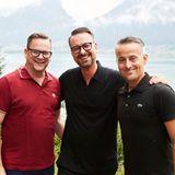 Beste Stimmung beiRalf Kirsten (Treca Interiors Paris), Oliver Christian Eder (Harry Winston) und Dirk Ueberbach(G+J)