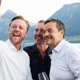 Selfie time!Sven Larssen(G+J),Nils Behrens (Lanserhof) undMichael Betzelt (E.A.Cosmetics)
