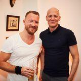 Smile! Peter Breiling (HSE24) und J. Oliver Braunoeder(Lacoste)