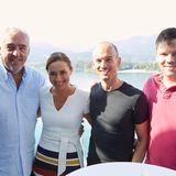 Gruppenbild im Sonnenschein: Hans-Reiner Schröder (BMW), Simone Gastberger (Scalaria), Peter Bauer (L'Oréal) undLewin Berner (Sioux)