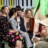 Illustre Front-Row bei Escada:Angela Sarafyan, Nikki Reed, Ian Somerhalder, Kate Bosworth, und daneben noch ...