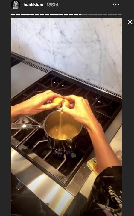 Heidi Klum machtFrühstück