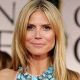 2012  Einen Natural Glow und Nude Lips - Heidi Klum probiert immer wieder neue Make-ups aus.