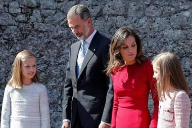 Prinzessin Leonor, König Felipe, Königin Letizia, Prinzessin Sofia
