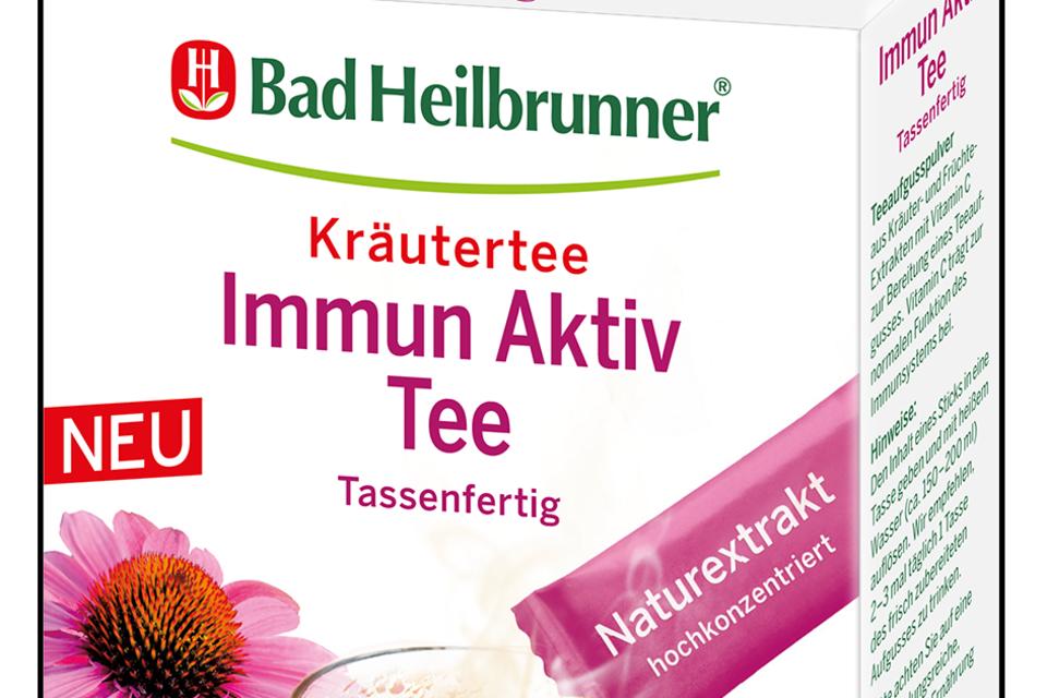 """Kräutertee-Sachets to go """"Immun Aktiv Tee""""mit Vitamin C. Von Bad Heilbrunner, 10 Stk. 3 Euro"""