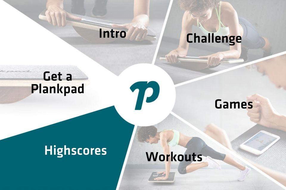 """Das Menü in der """"PlankPad""""-App"""