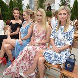 Die Front Row bei Oscar de la Renta: Kate Beckinsale, Rosie Huntington-Whiteley, Diana Agron und Nicky Hilton (v.l.n.r.).