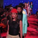 Die Models auf dem Runway von Calvin Klein. Allen voran: Doutzen Kroes.