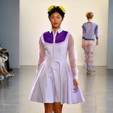Da wird Heidi Klum stolz sein: Anuthida Ploypetch läuft während der New Yorker Fashion Week für Marcel Ostertag.