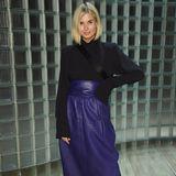 Xenia Adonts repräsentiert die deutsche Bloggerszene während der New Yorker Fashion Show.
