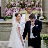 Erste Ehekrise? Nein, das sind Tränen der Rührung vonChris O´Neill bei seiner Hochzeit mit Prinzessin Madeleine.