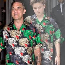 Robbie Williams + Cruz Beckham