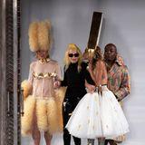 Designerin Pam Hogg sorgt wieder für eine außergewöhnliche Kollektion auf dem Londoner Laufsteg.