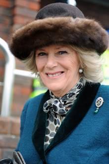 Herzogin Camilla auf dem Pferderennen desCheltenham Festivals im Jahr 2012