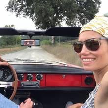 13. September 2018   Im edlenAlfa Romeo Oldtimer genießen Justin Timberlake und Jessica Biel ihre Fahrt während ihres Urlaubs in Italien. Ciao Bella!