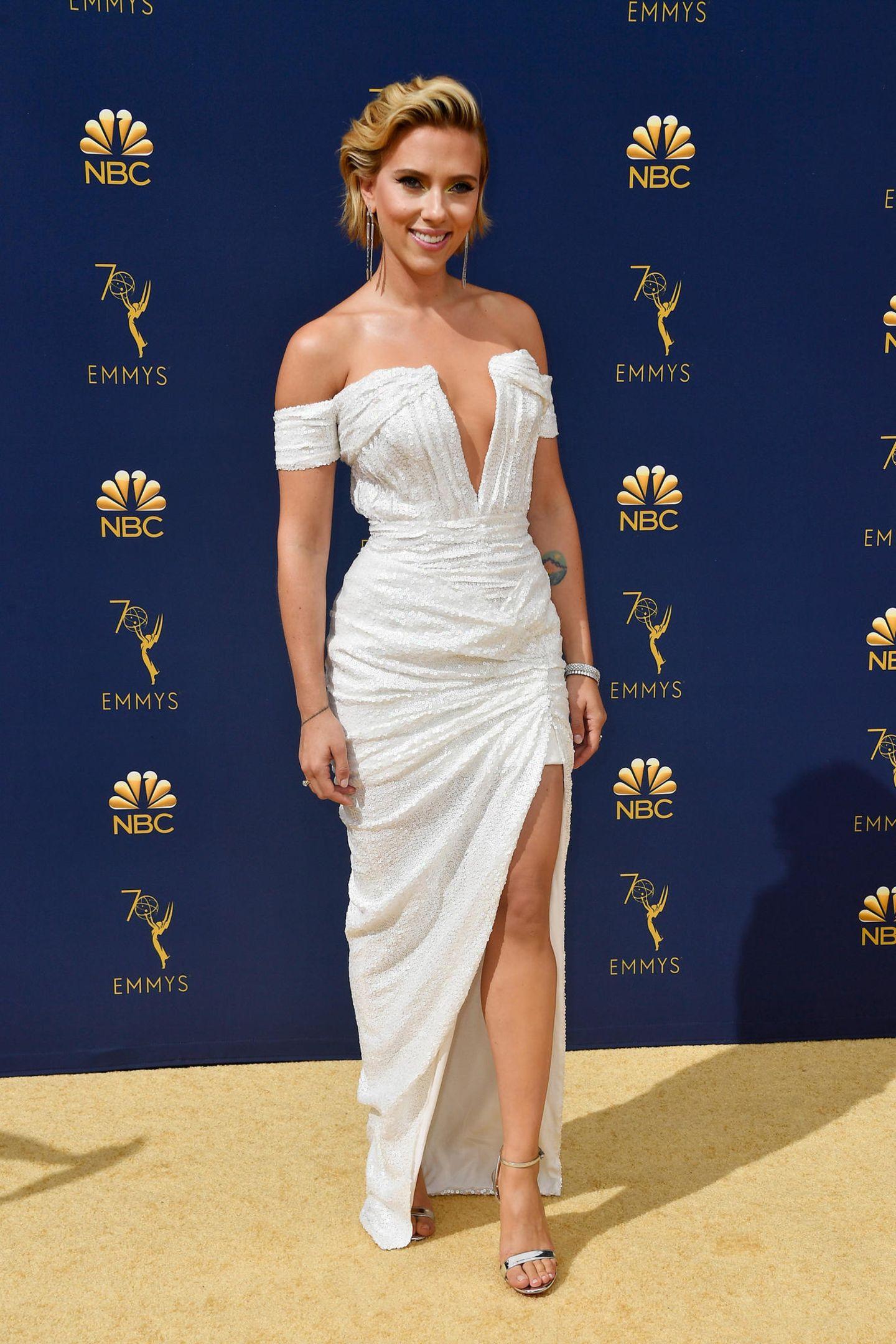 Glamour pur: Scarlett Johansson in Balmain