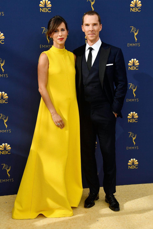 Sherlock-Star und Sonnenschein: Benedict Cumberbatch mit seiner FrauSophie Hunter