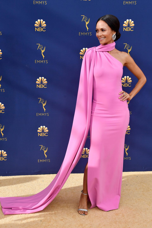 Pretty in Pink: Thandie Newton in Brandon Maxwell