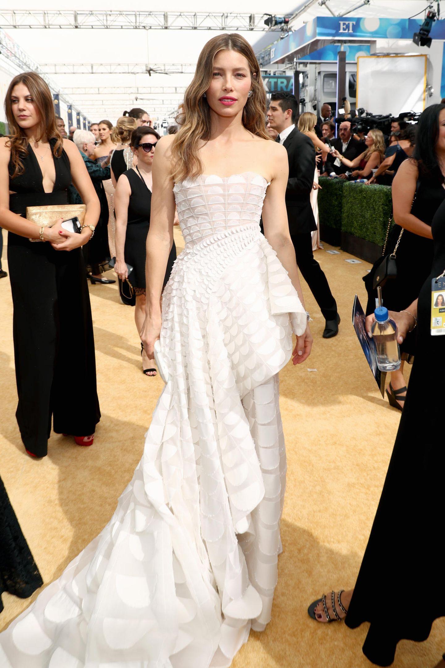 Hinreißend: Jessica Biel in Ralph & Russo Couture