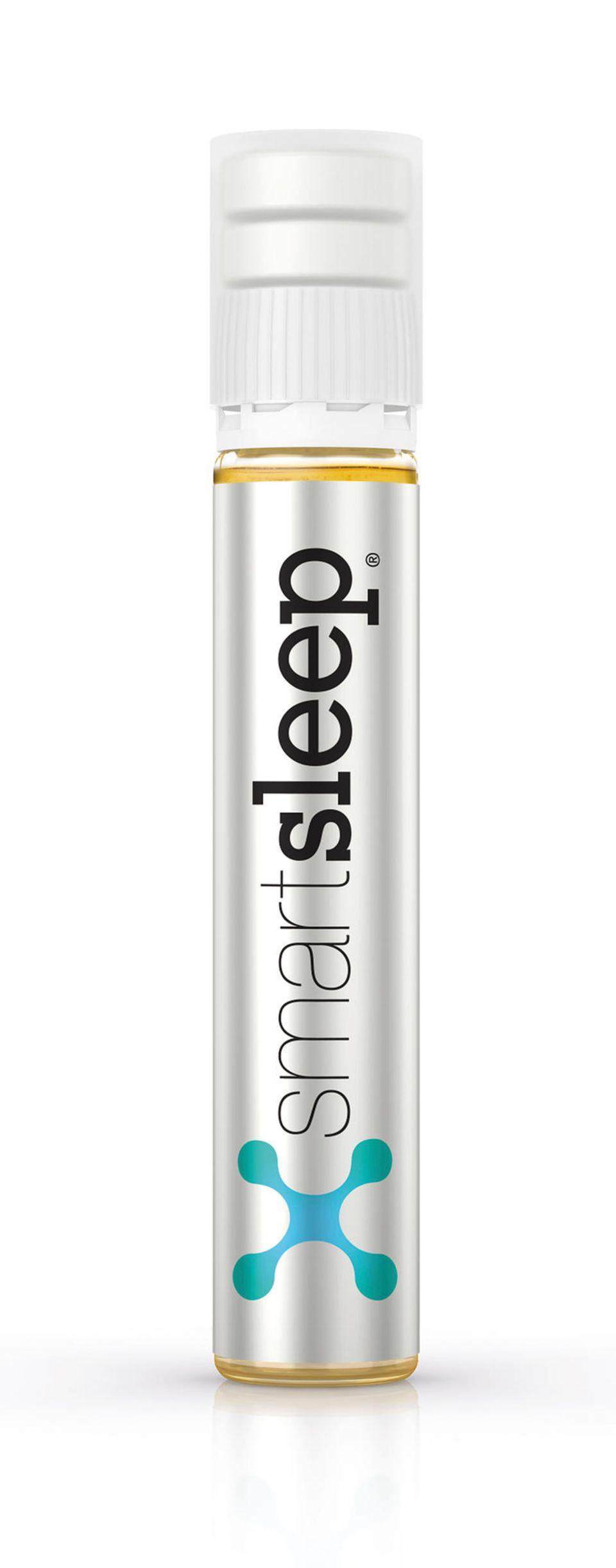 Smartsleep besteht aus zwei Kautabletten und einem flüssigen Shot