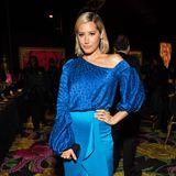 Ashley Tisdale macht bei der After-Show-Party von HBO blau.
