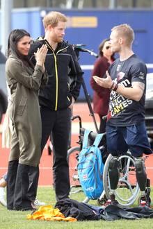 """Prinz Harry und Herzogin Meghan besuchen im April 2018 das UK Team für die """"Invictus Games"""" in Sydney"""
