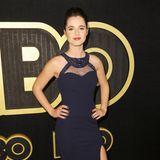 """Vanessa Marano (""""Gilmore Girls"""") tanzt im dunkelblauen Abendkleid auf der HBO-Party."""