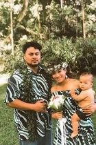 Vea Laulu und Ehemann Mana bei ihrer Hochzeit