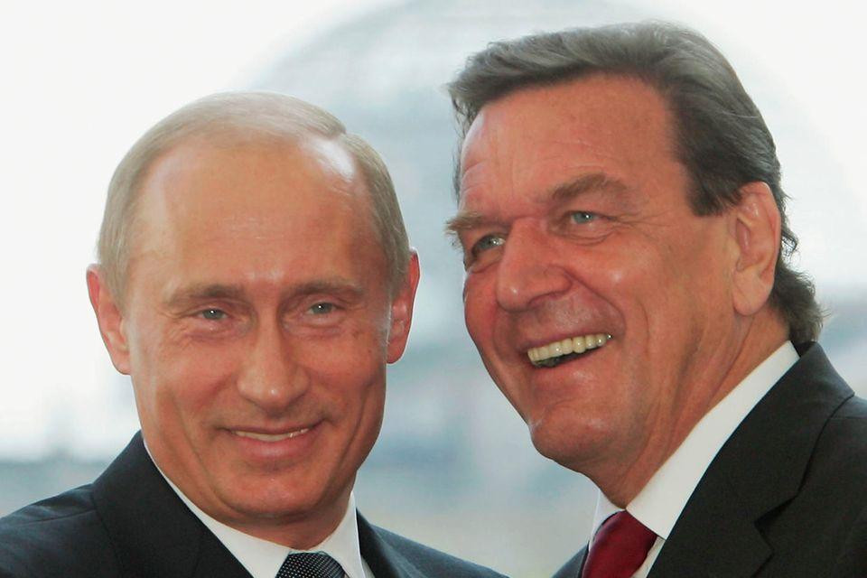 Gerhard Schröder + Wladimir Putin