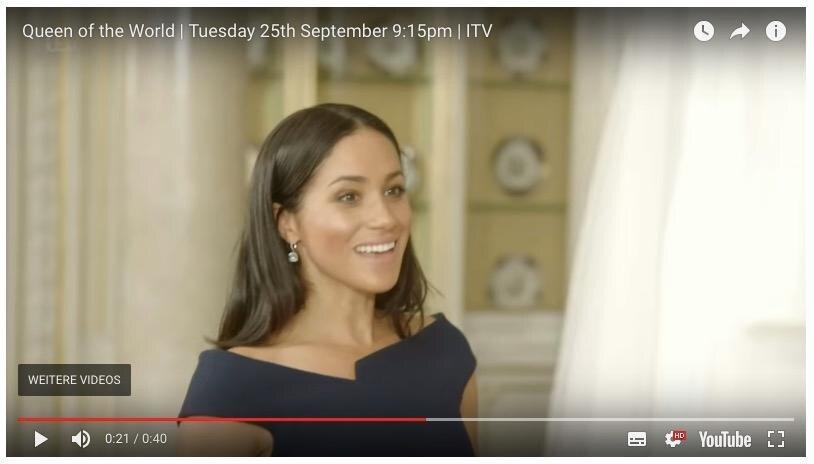 Herzogin Meghan schnappt hörbar nach Luft und bewundert ihr Brautkleid in einer Sequenz des Trailers.