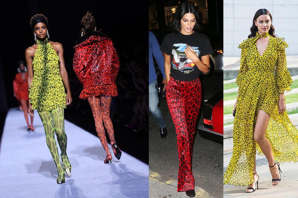 Der bunte Leo-Trend auf dem Laufsteg von Tom Ford, an Kendall Jenner und Irina Shayk