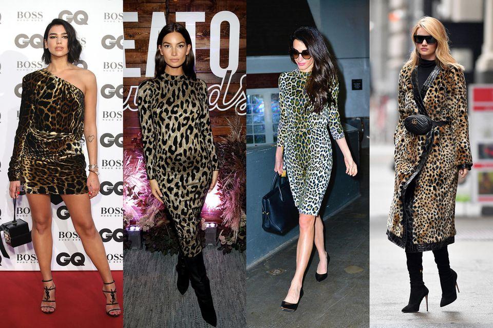 Promis wie Lily Aldridge, Amal Clooney und Rosie Huntington-Whiteley lieben den Leo-Trend.
